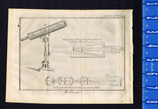The Telescope- Physics - Optics - Lens - 1763 Pluche Copper-Plate Engraving