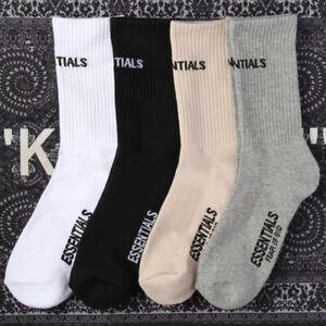 New Unisex Socks Fear of God Essentials Front Logo Streetwear Casual Crew Socks
