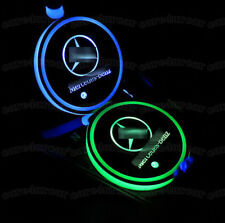 2PCS LED Car Cup Holder Pad Mat for Mercedes-benz Auto Interior Atmosphere Light