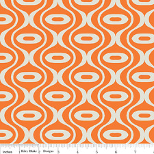 Orange Geometric - Riley Blake Fabric - Half yard - Discounted Fabrics4u2