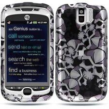 Black Skulls Hard Snap on Case for HTC myTouch 3G Slide