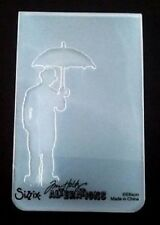 Sizzix Medium Embossing Folder UMBRELLA MAN fits Cuttlebug Tim Holtz