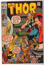 Marvel Comics  FN+ 6.5  mid grade THOR  #181 1970  AVENGERS one god must fall