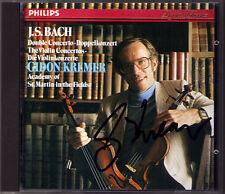 Gidon KREMER Signiert BACH Violin Concerto BWV 1041 1042 1043 CD Violinkonzerte