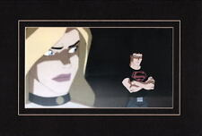 SUPERBOY & BLACK CANARY PROFESSIONALLY MATTED PRINT YOUNG JUSTICE Animated