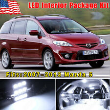 14PCS Super White LED Lights  Interior Package Combo Deal for 2007-2013 Mazda 5