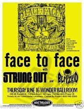 "FACE TO FACE/STRUNG OUT ""LAUGH NOW,LAUGH LATER TOUR""2011 PORTLAND CONCERT POSTER"