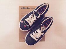 New Keds Kids Glisten Girl Size 10M Black Sparkle Sneaker Gems NIB