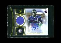 2016 Topps Premier Gold N'GOLO KANTE RC Rookie Relic Patch Auto /100! Chelsea!