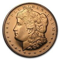 0,5 1/2 oz 999 Kupfer Copper Medaille Münze Morgan Dollar New USA