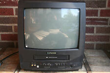 """Emerson TV-VCR Combo EWC1304 13"""" Screen For Parts or Repair Not working W/Remote"""