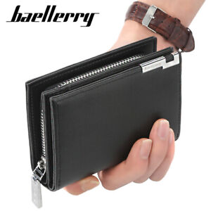 Men's Short Wallet Fashion Leisure Card Bag Large Zipper Wallet