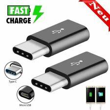 2pcs Adapter Typ C zu Micro USB C Ladekabel Konverter Stecker Schnellladekabel