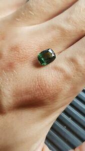 Green Australian Sapphire Cushion Cut 3.00 Ct