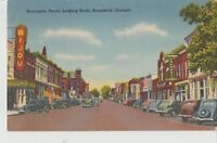 BRUNSWICK, GA Newcastle Street Scene Bijou Theater Georgia Postcard ca 1940s