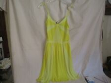 SWEETEES Twinkle Yellow - Spaghetti Strap Short Summer Dress Size Small NWT  mec