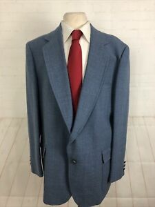 Adam Row Spring Men's Blue Solid Blazer 50R $325
