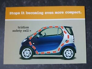 Smart Car Tridion safety cell Original Manufacturers Advertising Postcard