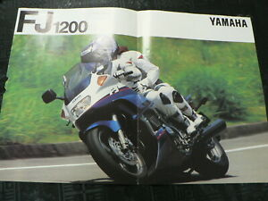 Y405 YAMAHA BROCHURE PROSPEKT FOLDER POSTER FJ1200 NOT 100 % OK IS DAMAGED