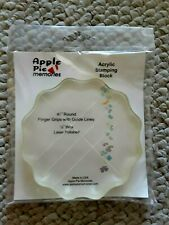 """Apple Pie Acrylic Stamping Block 4-1/4"""" inches Round 1/2"""" thick Laser Polished,"""