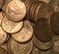 1953 TO 1966 CANADA ELIZABETH II SILVER 50 CENTS .800 SILVER 1 COIN PER QUANTITY