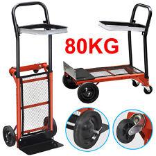 80KG Heavy Duty Sack Truck Folding Hand Trolley Garden/Industrial Platform Cart