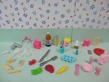 Barbie APPLE JUICE CUPCAKE SODA ICE CREAM TOOTHBRUSH SALT SHAKER Accessories Lot