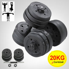 20kg Dumbbell Set Workout Weight Gym Triceps Fitness Exercise Strength Black