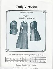 Schnittmuster Truly Victorian TV 560: 1880s Late Bustle Coat