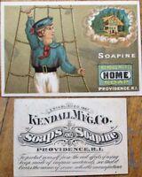 Sailor/Nautical 1890 Victorian Trade Card: Soapine, Home Soap - Providence, RI