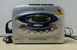 Awia AM/FM Stereo Super Bass Cassette Player TX416 spares/repairs E5