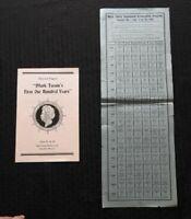"""1835-1935 MARK TWAIN'S """"1st ONE HUNDRED YEARS"""" HANNIBAL MO BIRTHDAY CELEBRATION"""