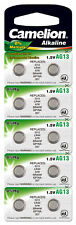 10 X AG13/147/LR44/SR44W/357 Qualitätsbatterien NEU