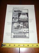 1966 TRIUMPH TR-4A   - ORIGINAL PRINT AD