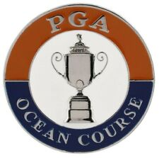 2021 PGA Championship (Ocean Course) FLAT Large TWO SIDED Logo Golf BALL MARKER
