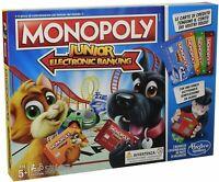 Monopoly junior electronic banking gioco di società Hasbro