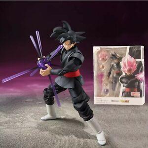 DRAGON BALL SUPER Action Figure BLACK GOKU ROSA Giocattolo Pvc Nuovo