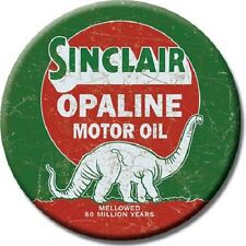"3"" ROUND SINCLAIR OPALINE MOTOR OIL REFRIGERATOR MAGNET NEW"