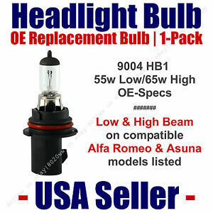 Headlight Bulb High/Low OE Replacement Fits Listed Alfa Romeo/Asuna Models  9004