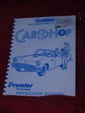 Pinball Car Hop Original Manual Gottlieb Flipper