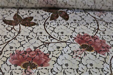 C-0724110 Exquisite Italian Floral Lace Cotton Fabric per Yard