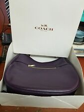 COACH NOMAD HOBO-TANNED EGGPLANT LEATHER- 36026 Bag IN ORIG. BOX MINT