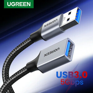Ugreen USB 3.0 Extension Aluminium Braided Cable Male to Female Data Extender