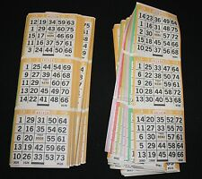 BINGO PAPER Card 3 on 8 Orange Bdr 50 packs FREE PRIORITY SHIP