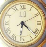 Dunhill Analog Quartz Leather Band Roman Numeral WR 3ATM New Battery Women Watch