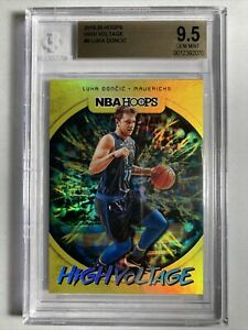 2019-20 Hoops High Voltage Luka Doncic 2nd Year Insert BGS 9.5