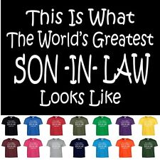 Worlds Greatest SON IN LAW Funny T Shirt Groomsmen Wedding Gift Tee T Shirt