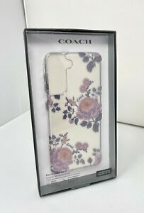Coach Protective Case for Samsung Galaxy S21 & S21 5G Moody Floral Purple Clear