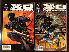 X-O MANOWAR #5 & 6 1:50 VARIANTS LOT OF 2 VALIANT COMICS NM