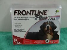Frontline Plus Flea and Tick Treatment for Extra Large Dog, 89-132lbs- 3 Doses